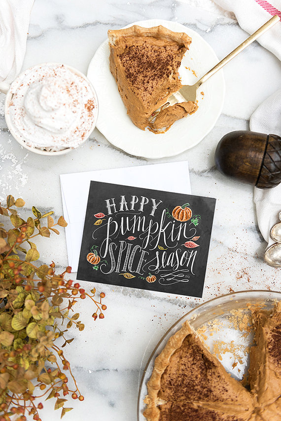 Happy Pumpkin Spice Season Cards