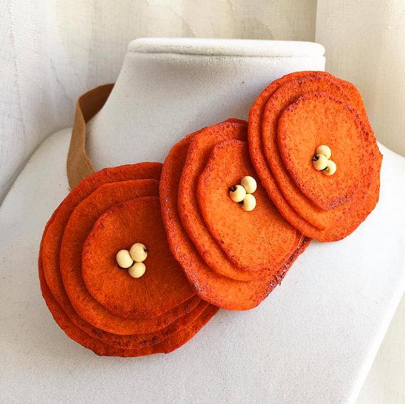 Pumpkin Spice Floral Poppy Headband