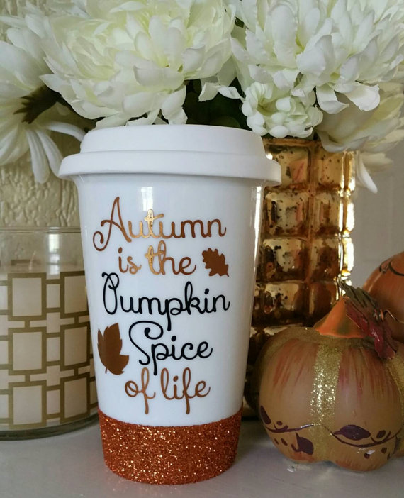 Autumn is the Pumpkin Spice of life Ceramic Travel Cup