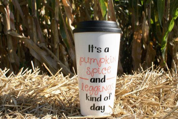 Pumpkin Spice and Leggings Mug