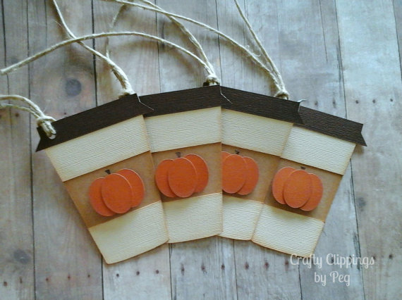 Pumpkin Spice Latte Fall Gift Tags