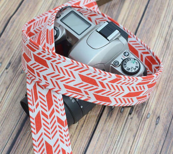 Pumpkin Spice dSLR Camera Strap