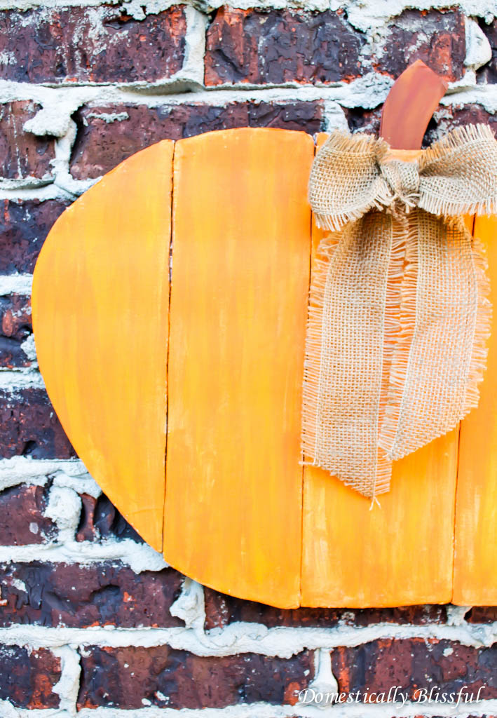 $1 Faux Wood Pumpkin