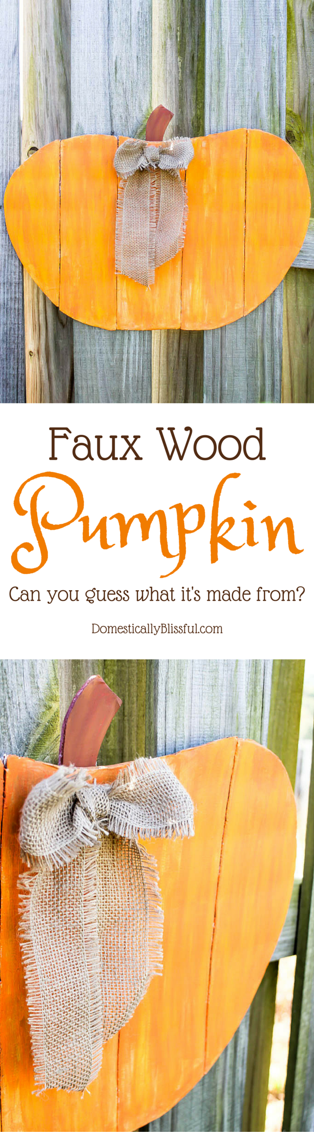 A Faux Wood Pumpkin that isn't made from wood