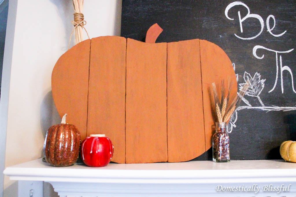 Brown Faux Wood Pumpkin