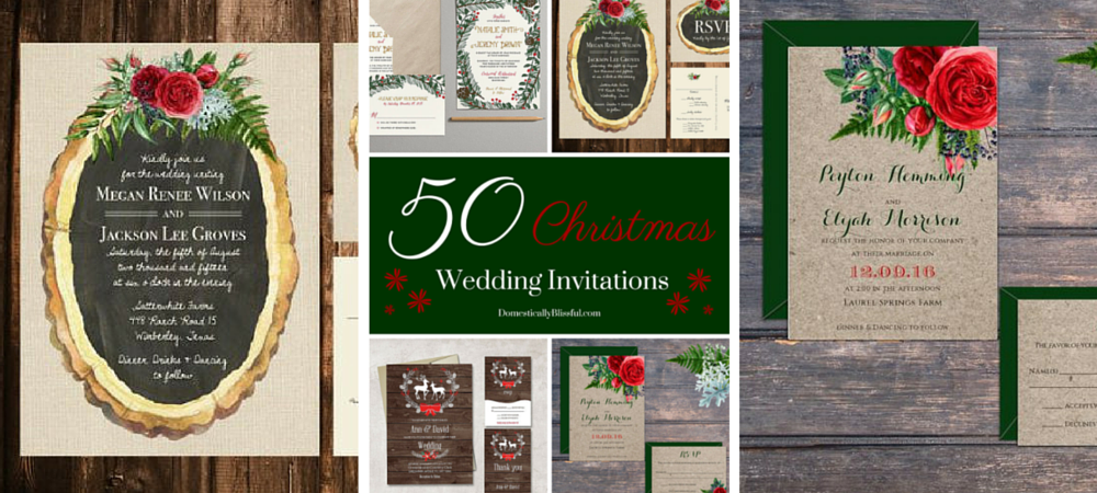 50 Christmas Wedding Invitations