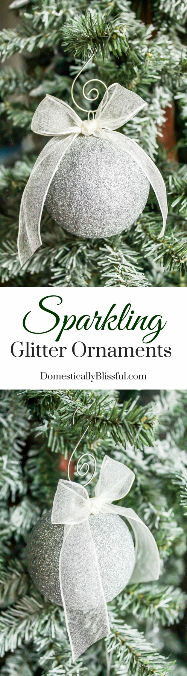 Create your own Sparkling Glitter Ornaments that are nonbreakable, won't lose sparkle, & filled with Christmas cheer