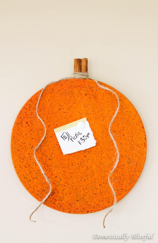 DIY Pumpkin Cork Message Board