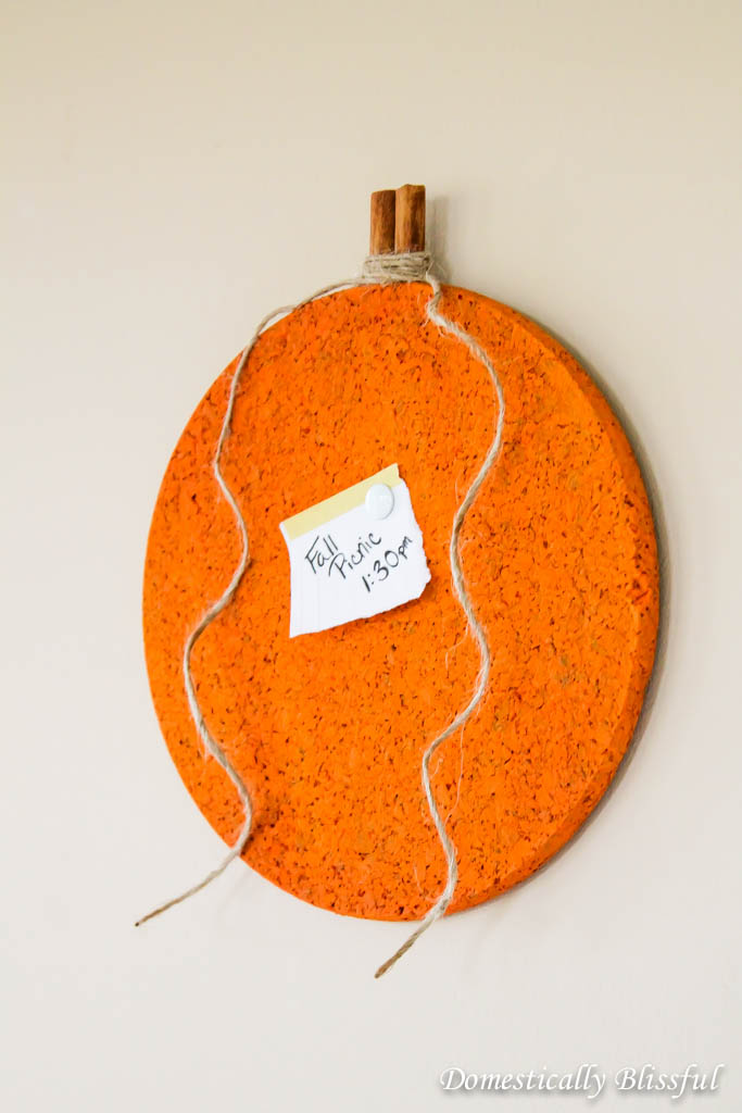 DIY Pumpkin Message Board