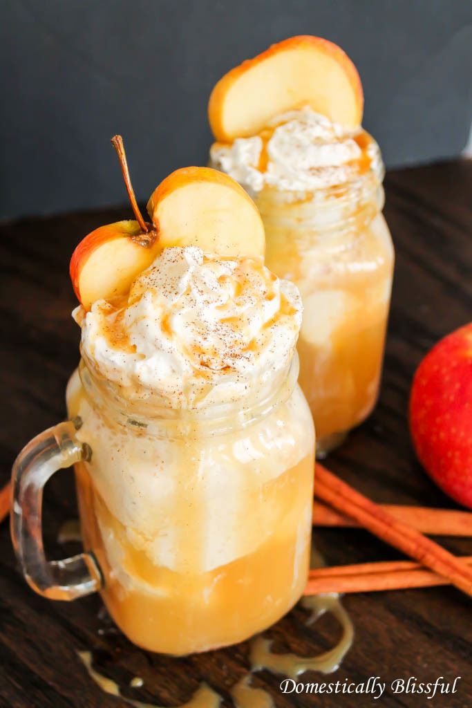 Fall Apple Cider Floats