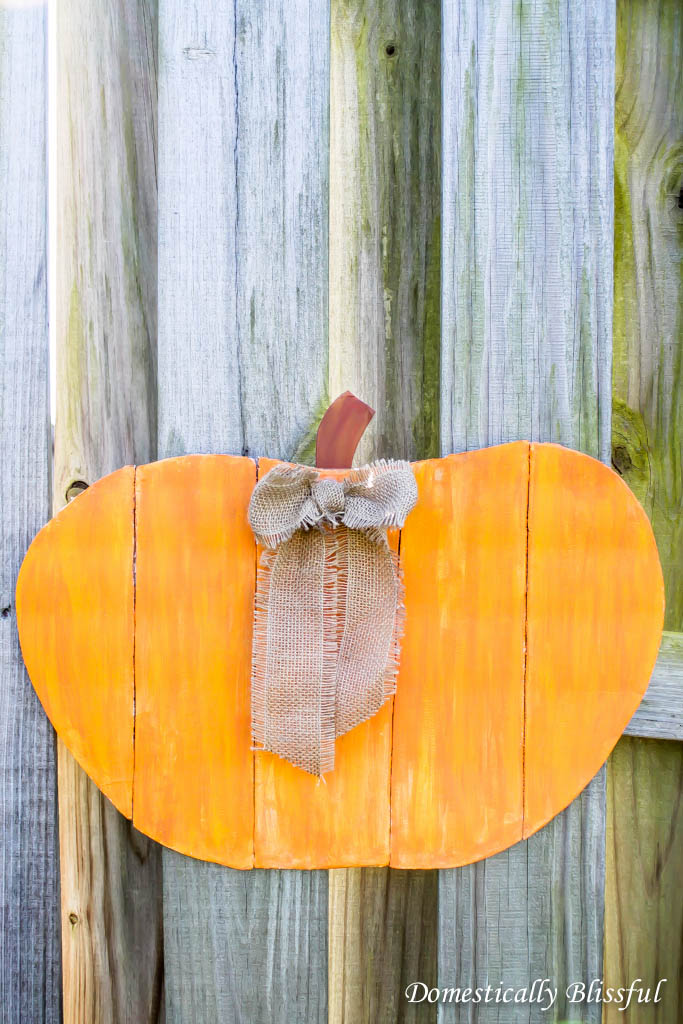 Faux Wood Pumpkin