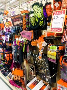 Hobby Lobby Halloween aisle