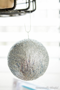 Mod Podge and glitter Christmas ornament