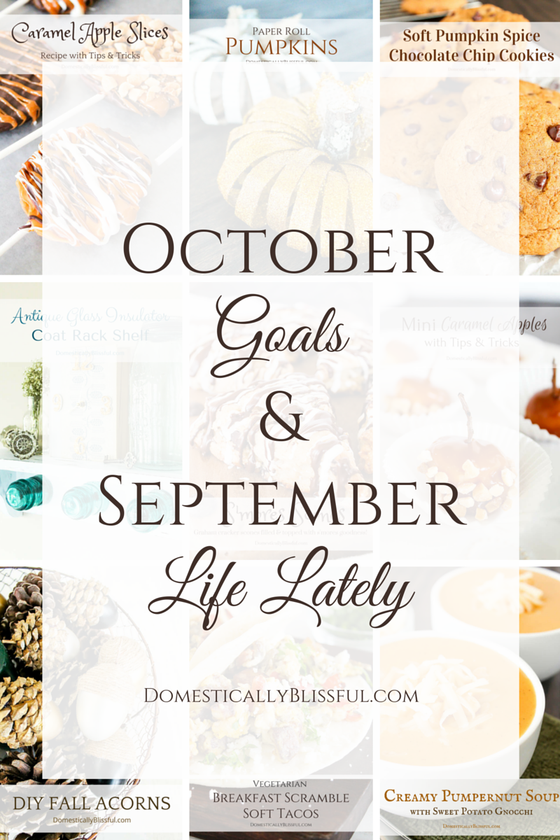 October Goals & September Life Lately