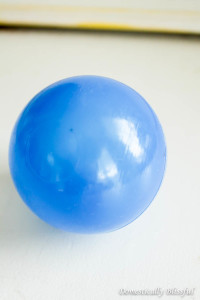 Plastic ball for Christmas ornament