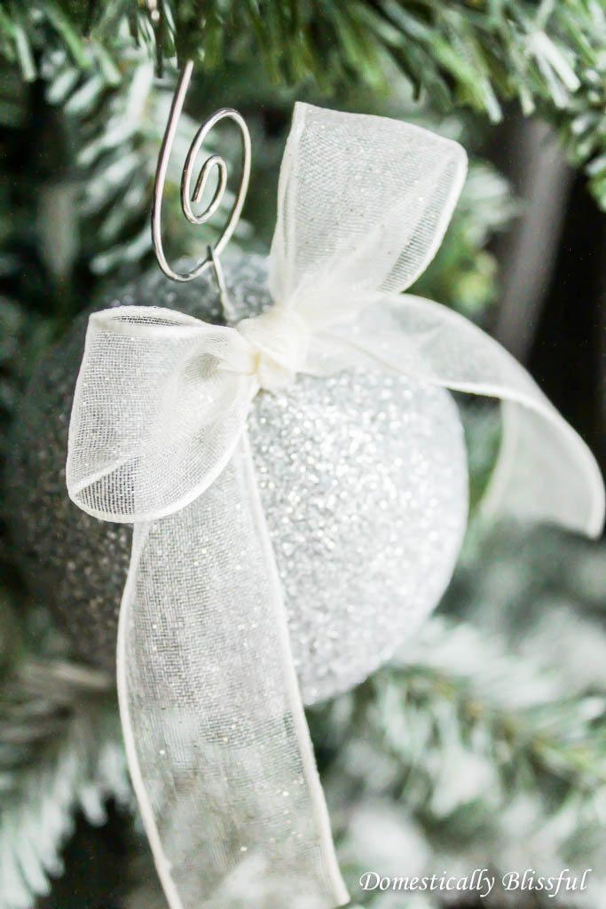 Sparkling Glitter Ornament with Bow