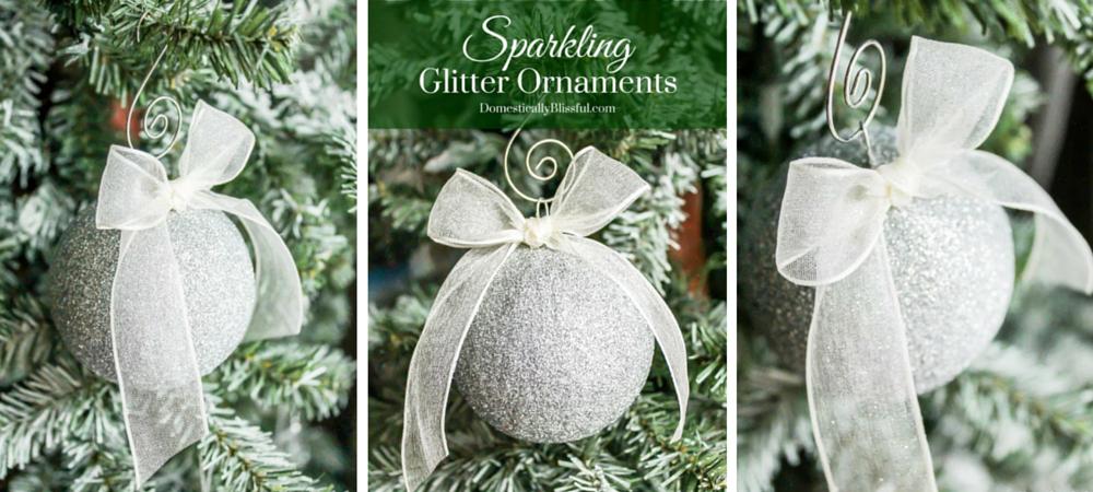 Sparkling Glitter Ornaments
