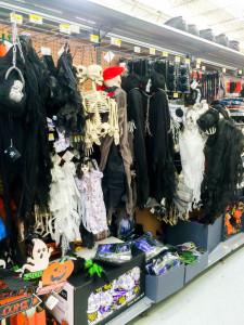 Walmart Halloween aisle