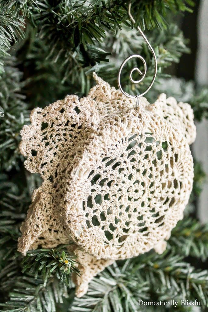 Antique Doily Christmas Ornament