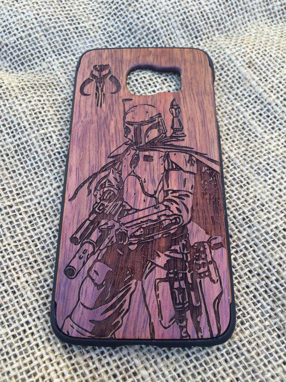 Boba Fett with Mandalorian Skull Phone Case
