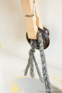 Braid grey yarn for Christmas ornament