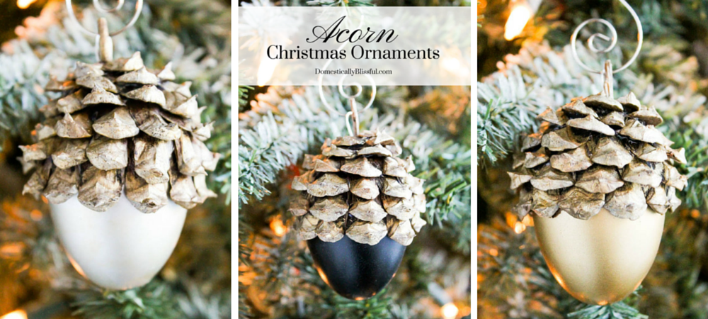 Faux Acorn Christmas Ornaments