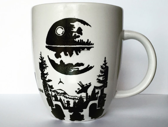 Custom Hand Painted Star Wars Mug