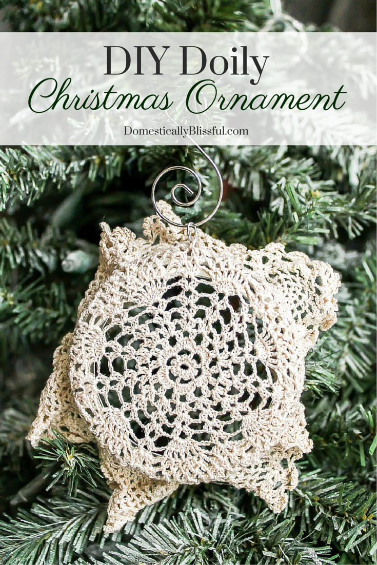 DIY Doily Christmas Ornament