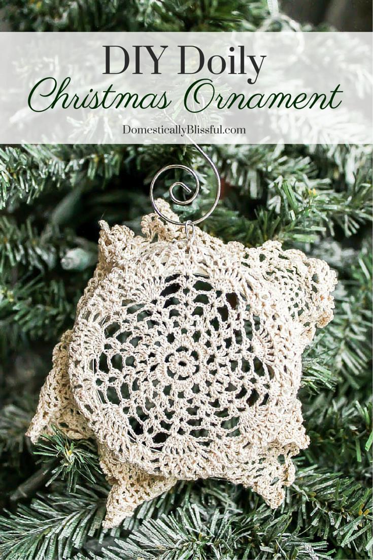 DIY Doily Christmas Ornament