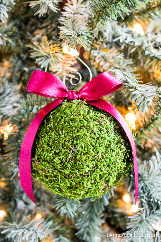 DIY Moss Christmas Ornament