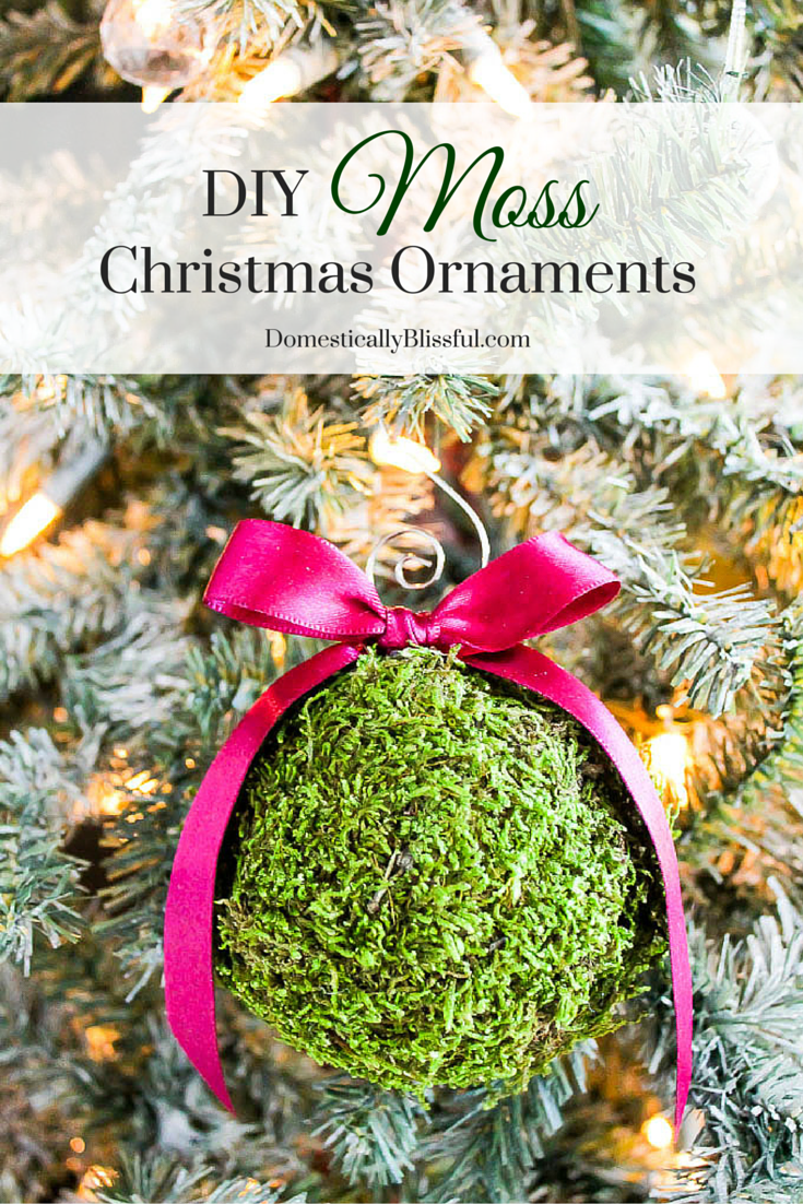 DIY Moss Christmas Ornaments