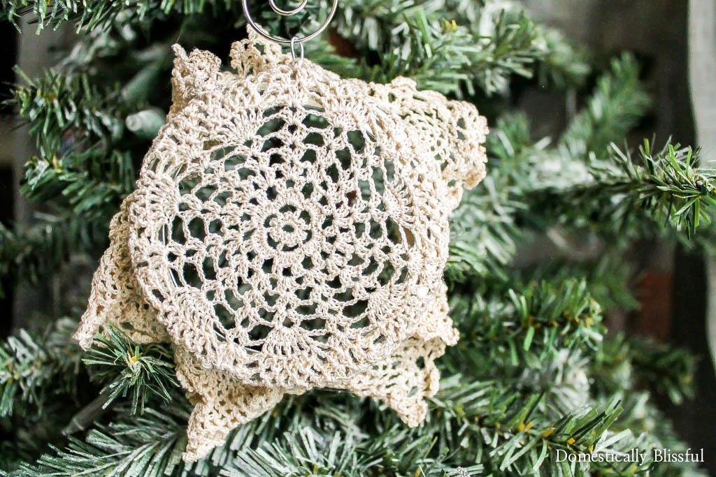Doily Christmas Ornament