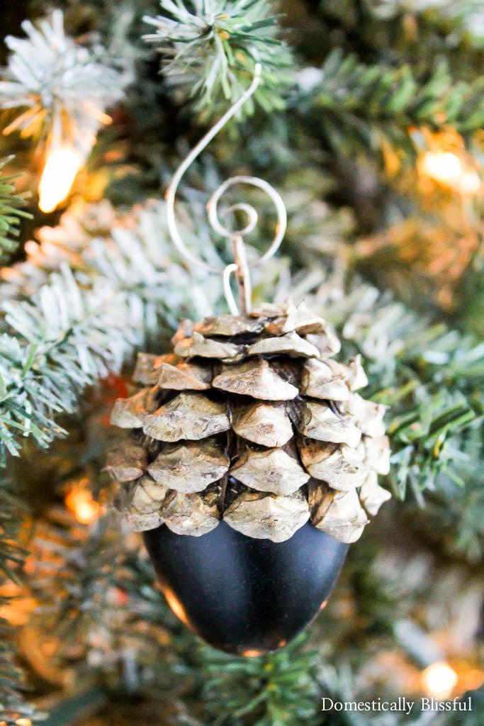 Faux Acorn Christmas Ornaments