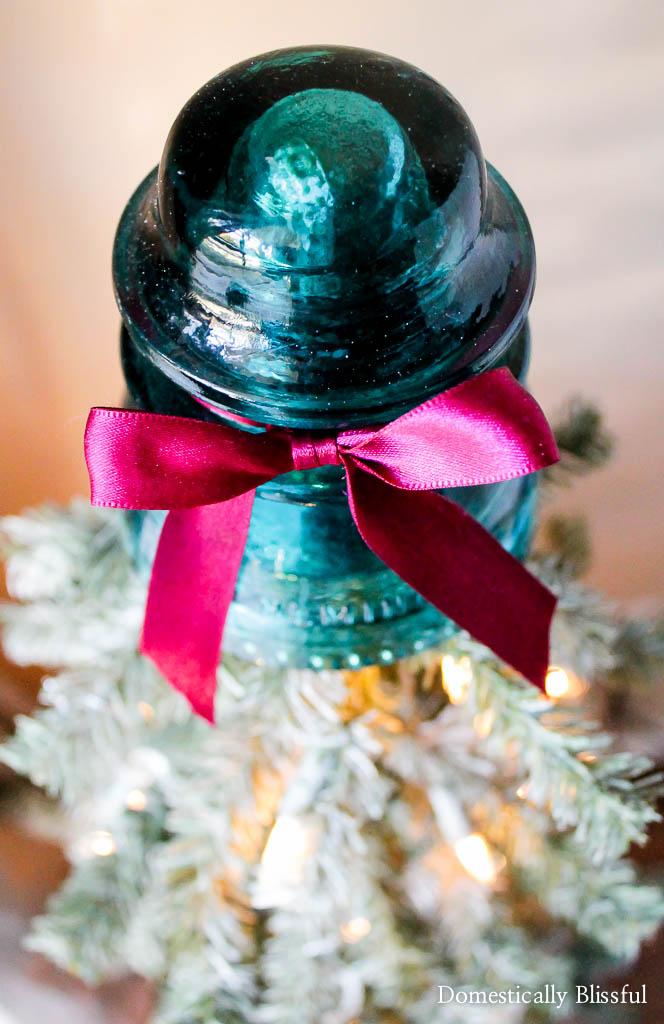 Glass Insulator Christmas Tree Topper