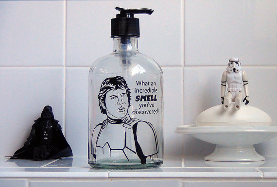 Han Solo Glass Soap Dispenser