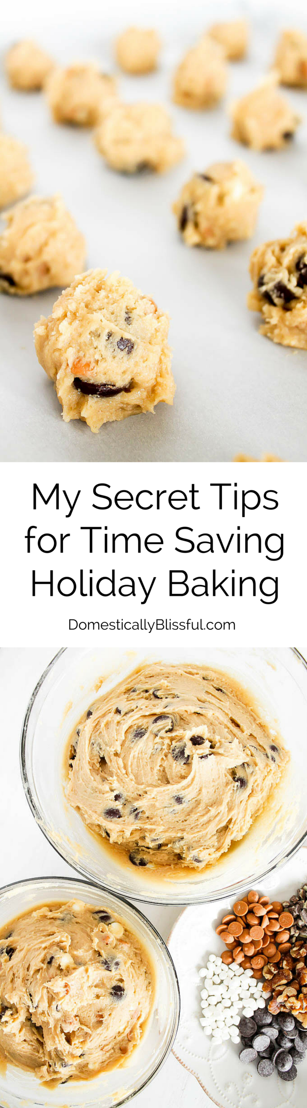 In My Secret Tips for Time Saving Holiday Baking I share my secrets on how I create delicious cookies & save time during the holiday season while baking for all of my friends & family