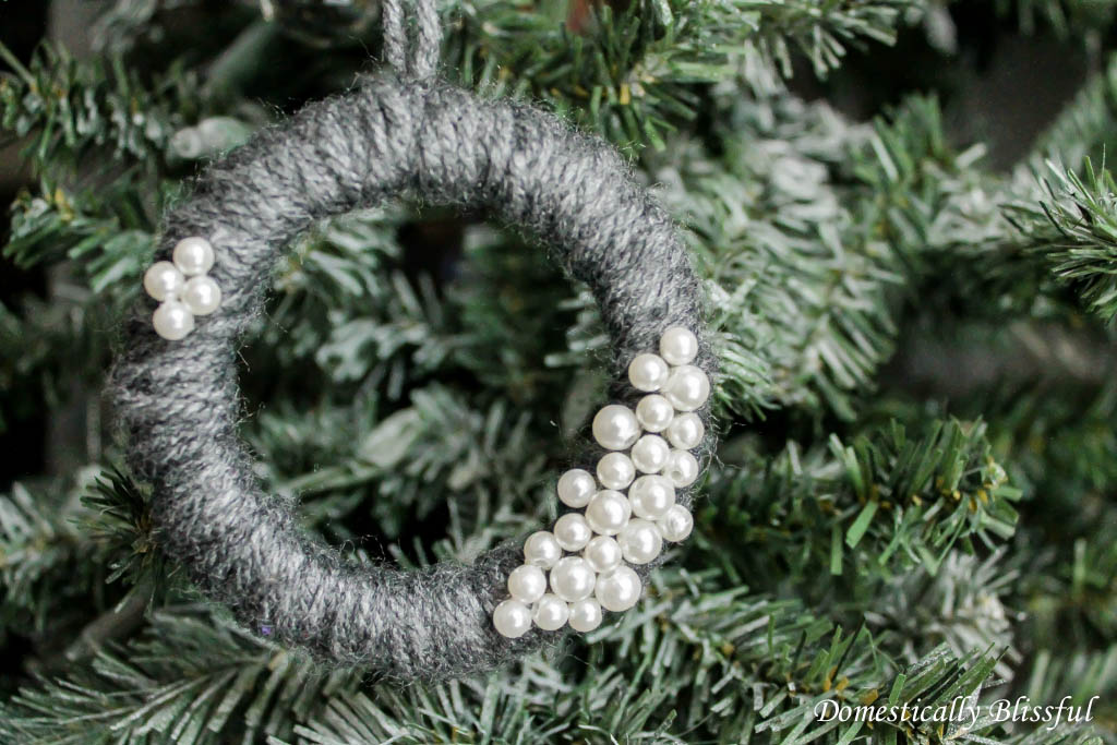 Mason Jar Lid Wreath Christmas Ornament