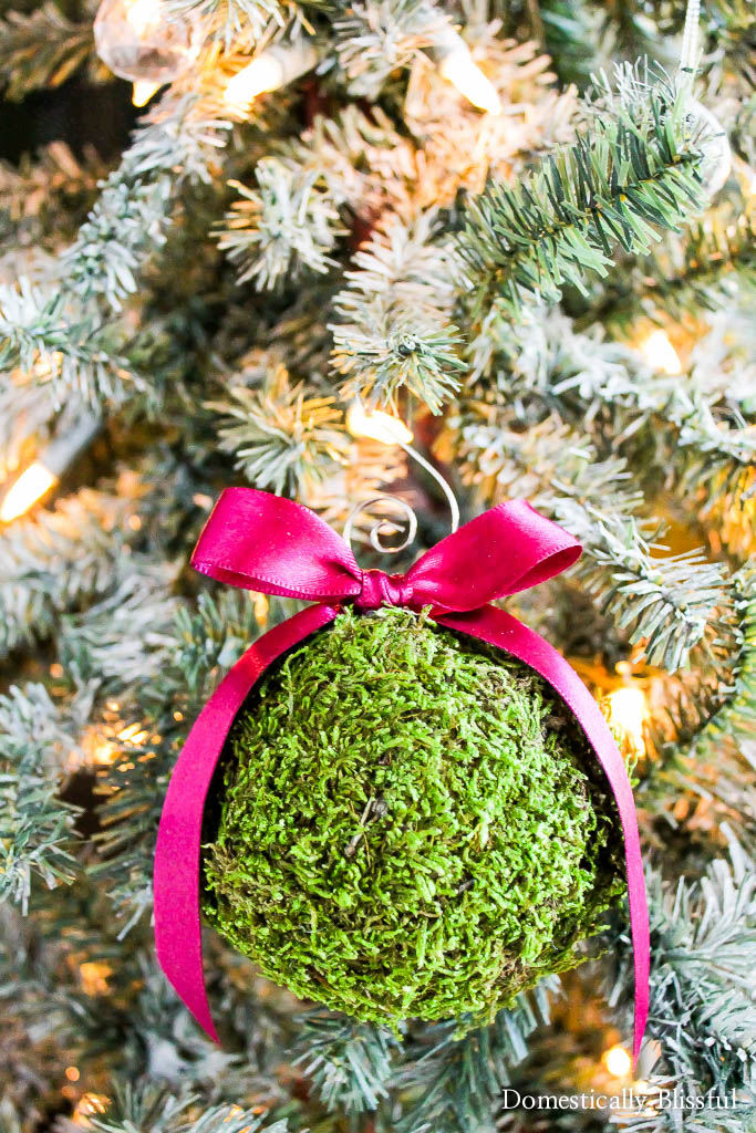 Moss Christmas Ornaments
