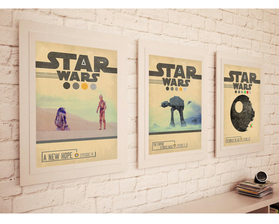 STAR WARS TRILOGY Movie Set Posters
