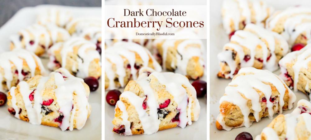 Dark Chocolate Cranberry Scones