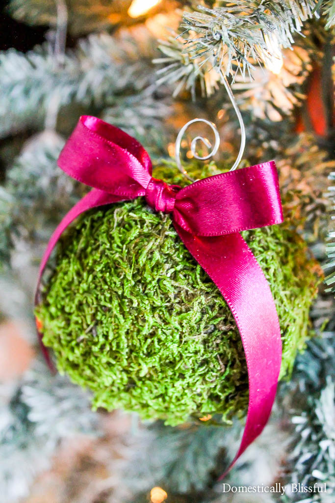 Shatterproof Moss Christmas Ornament