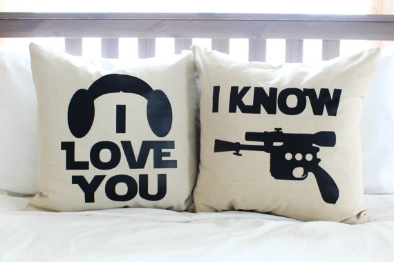 "Star Wars ""I Love You, I Know"" Pillow Set"