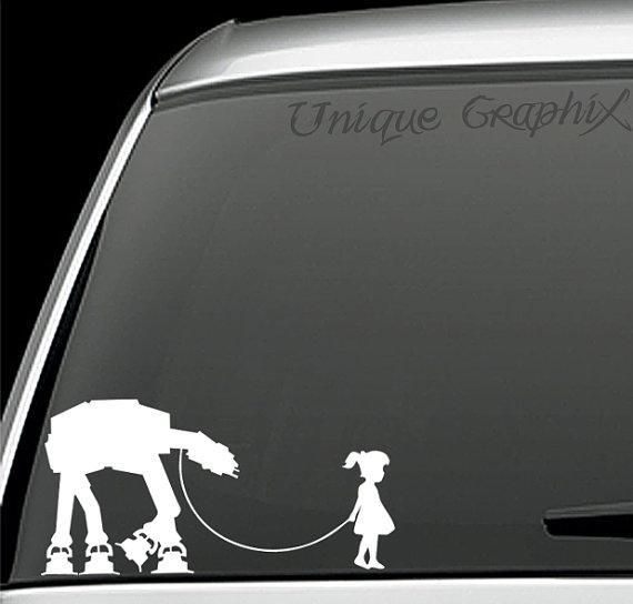 Star Wars Inspired Girl Walking Pet ATAT