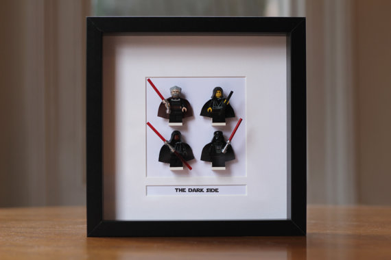 Star Wars Mini Figures Framed The Dark Side made from Lego