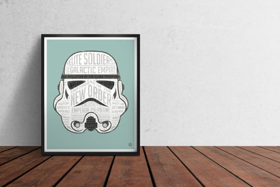 Star Wars STORMTROOPER Typographic Infographic Poster