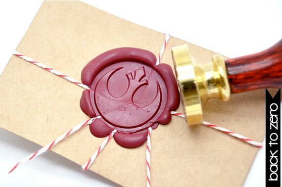 B20 Wax Seal Stamp Star Wars Rebel Alliance Symbol