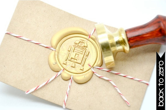 B20 Wax Seal Stamp Star Wars R2-D2
