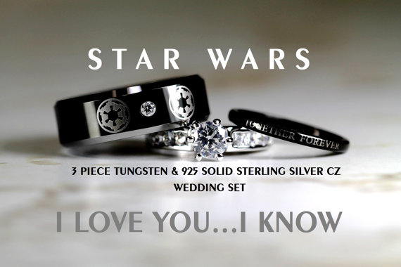 Star Wars Wedding Ring Set