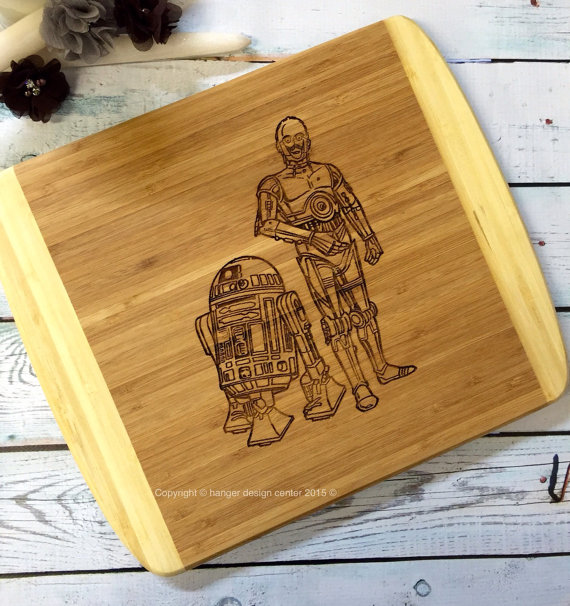 C-3PO and R2-D2 Cutting Board