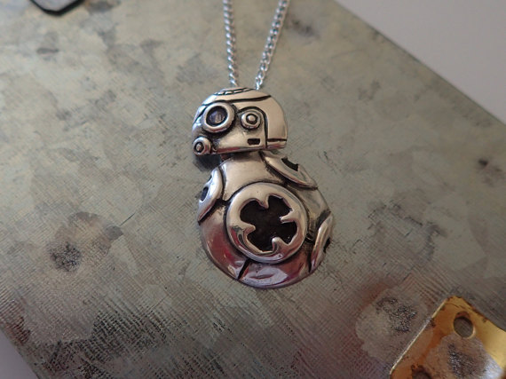 BB-8 Silver Charm Necklace